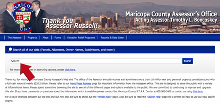 Maricopa County Assessor Website